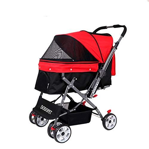NIUYUANNN Verstelbare rolstoel Huisdier kinderwagen draagbare 4-wiel scooter, grote hond letsel vouwfiets Hind been rolstoel