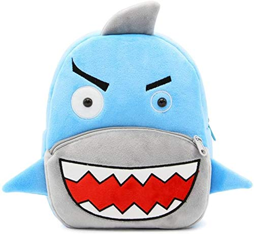 Blue Tree Cute Kids Backpack Toddler Bag Plush Animal Cartoon Mini Travel Bag for Baby Girl Boy 1-6 Years (Shark)