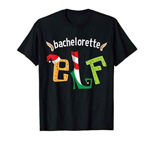 Bachelorette Party Elf Christmas Elves Bride Squad Matching Camiseta