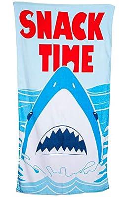 1616 Holdings Snack Time Shark Beach Towel 30 x 60 inch