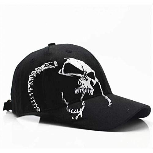 Sombreros de boutique al aire libre - Gorra de béisbol Bordado del cráneo Gorra de moda 100% algodón Gorra de béisbol Sombrero de Hip Hop al aire libre Gorra deportiva para hombres, mujeres, izquierda