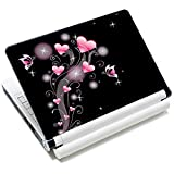 Laptop Skin Vinyl Sticker Decal, 12' 13' 13.3' 14' 15' 15.4' 15.6 inch Laptop Skin Sticker Cover Art Decal Protector Fits HP Dell Lenovo Compaq Apple Asus Acer (Pink Hearts)