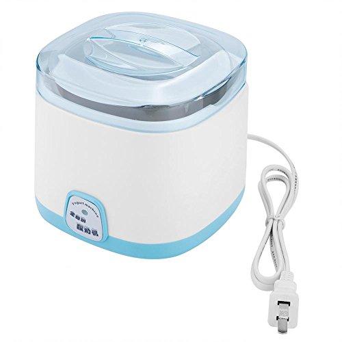 Fosa Haushalts-elektrischer automatischer DIY-Jogurt-Maschinen-Hersteller-Edelstahl-innerer Behälter 220V(rosa,blau)(Blau)