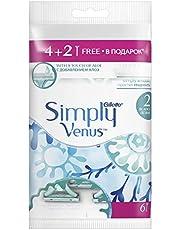 شفرات الحلاقة جيلييت سيمبلي فيناس SV2 4+2 للنساء