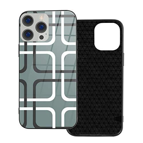 Compatible con iPhone 12 Pro Max, carcasa resistente de cuerpo completo, carcasa de vidrio TPU suave para iPhone 12 Pro Max 6.7 pulgadas, empaticalism Cornflower carbón y blanco