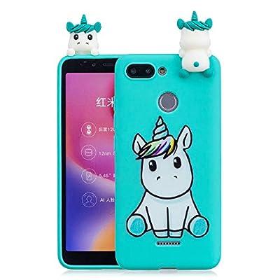 HopMore Funda para Xiaomi Redmi 6 Silicona Motivo 3D Divertidas Unicornio Panda Bonita TPU Gel Ultrafina Slim Case Antigolpes Cover Protección Carcasa Dibujo Gracioso - Unicornio