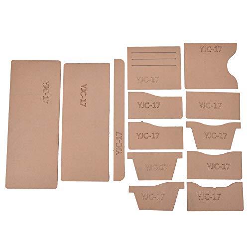 13St Brieftasche Muster Schablone Klare Acryl Leder Bastelvorlage zum Kurzer Geldbeutel DIY Making Tool