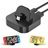Charging Stand for Nintendo Switch and Switch Lite, Compact Charger Dock Station with Type C Port, Portable Mini Power Adapter for Travel