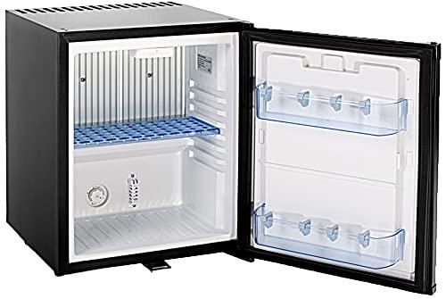 Techomey Mini Fridge 1.0 Cu.Ft, Mini Fridge With Lock 12V/110V, Truck Refrigerator Quiet Compact, Absorption Refrigerator For Bedroom, Truck, Semi truck, RV, Camper, Studio, Apartment, Hotel, Black