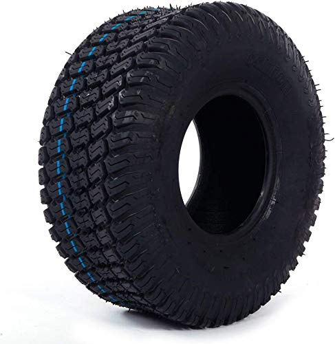 Set of 2 Turf Tires 15x6.00-6 Compatible with Lawn Mower and Garden Tractor Tires