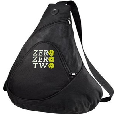 Port Authrority Pickleball Paddle Racquet Sling Bag - Zero Zero Two (1) - Customizable with Name You Choose