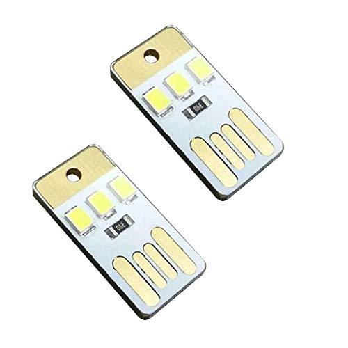 B Blesiya Lámpara de Noche con Luz LED USB de Un Solo Lado de 2 Piezas para Computadora Portátil Que Acampa