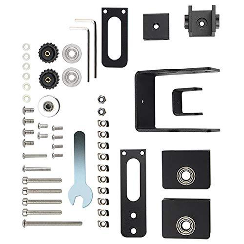 Zubehör für 3D-Drucker, inkl. XY Axis Synchrondehnungsspanner + Schraubbefestigungssitz-Set, geeignet für Creality CR-10, CR-10S, Tevo Tornado 3D-Drucker