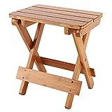 Taburete cuadrado de madera para cocina, robusto, práctico y plegable, con...