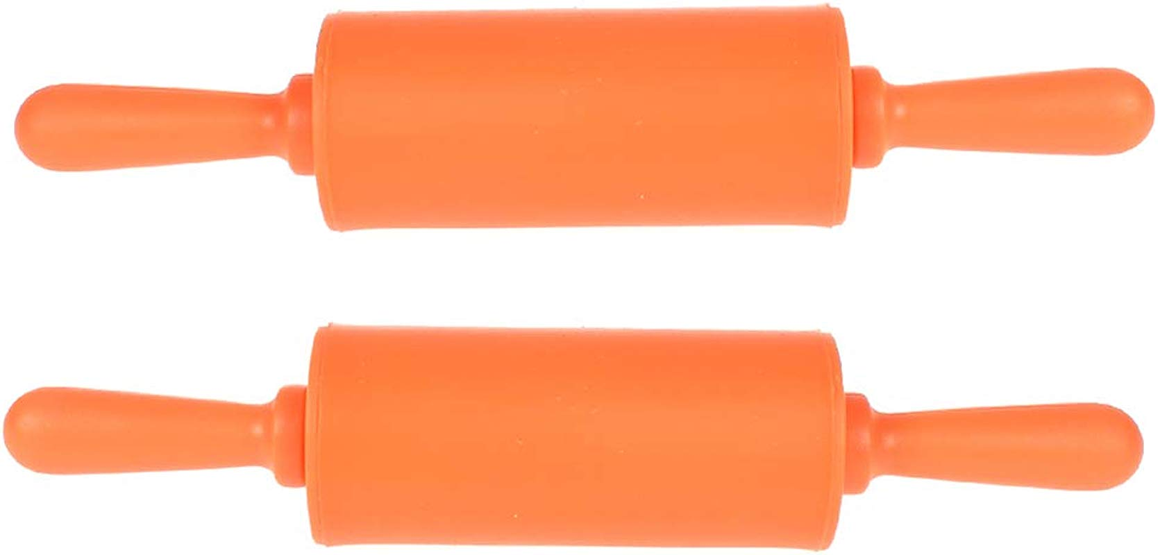 NUOMI Kids Rolling Pin For Baking Playdough 2 Pack Non Stick Silicone Small Rolling Pins For Home Kitchen