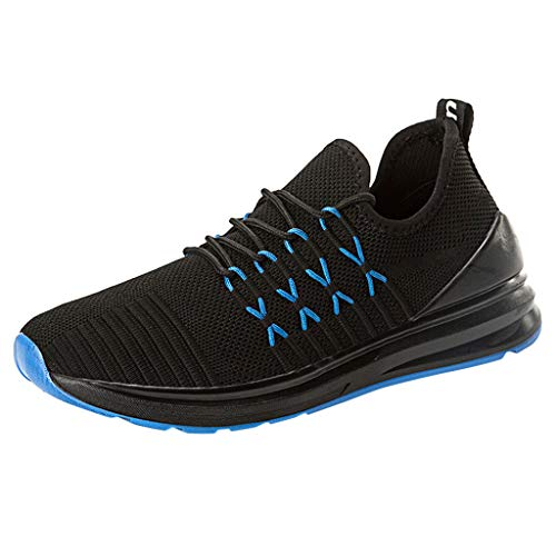 KERULA Sneakers, Wear-Resistant Breathable Running Shoes Outdoor Solid Color Woven Sneakers Athletic Fashion Casual Day Ultra Lightweight Perforated Slip on Offroad Sport Sneaker für Damen & Herren