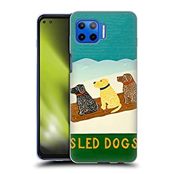 Head Case Designs Officially Licensed Stephen Huneck Sled Snow Dog Soft Gel Case Compatible with Motorola Moto G 5G Plus