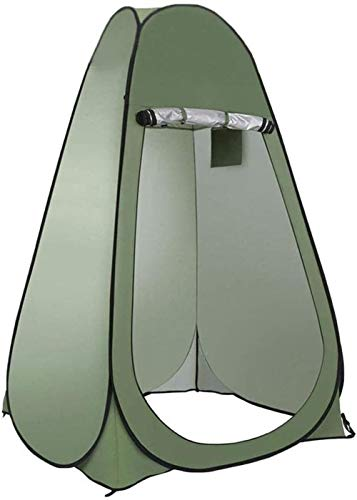 JSYYSJ Camping Shower Privacy Tent With Window,Waterproof Portable Toilet, Beach Dressing Room Shelter Canopy, Baby Outdoor Backpack Shelter Canopy Easy Set Up, Foldable With Carry Bag – Lightweight A
