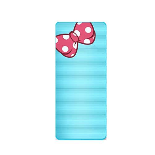 Doppel Yoga Matte Gym Trainingsmatte Hause rutschfeste Matte Baby Krabbeln Matte Kinder Tanz Pad Game Pad 185 * 90 cm Bodenmatte (Color : A)
