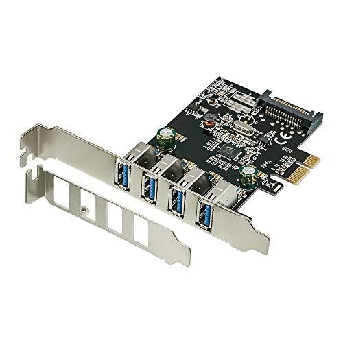オウルテック USB3.0増設ボード 外部USB3.0×4ポート増設 PCI Express インターフェースボード ロープロファイルブラケット付き OWL-PCEXU3E4LS