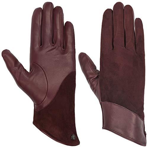 Roeckl Flaired Wave Lederhandschuhe Handschuhe Fingerhandschuhe Damenhandschuhe (8 HS - bordeaux)