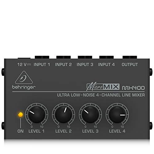 BEHRINGER MX400 Mezclador Micromix No Noise 4-Kanal-Mono-Line