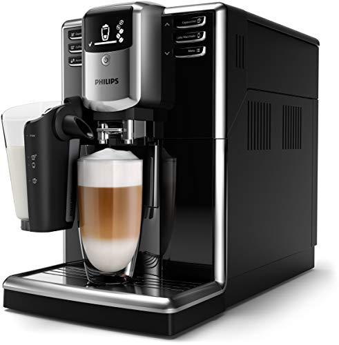 Philips Cafetera automática 5000 Serie EP5330/10, 6 especialidades de café (LatteGo), color negro lacado