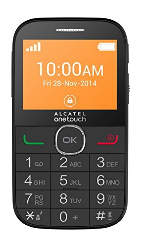 """Alcatel One Touch 20-04G Telefono Cellulare, GSM (2G), 2.4"""", MicroSD fino a 16 GB, Bianco"""