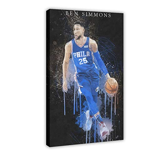 Superstar Baloncesto Ben Simmons Sport Custom Poster 20 Lienzo Póster Decoración Dormitorio Deportes Paisaje Oficina Decoración Regalo Marco-estilo30 × 45 cm