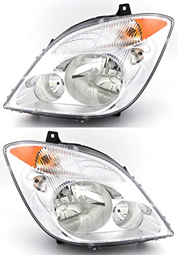For Dodge Sprinter Headlight 2007 2008 2009 Driver and Passenger Side Headlamp Assembly Replacement