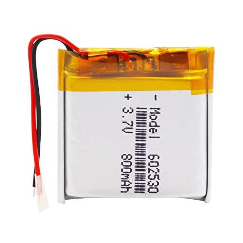 RFGTYH Batería Recargable de 3,7 V 800 mAh 602530 para Reloj Inteligente, lápiz de Lectura, baterías de polímero de Litio Li-Po 1pcs