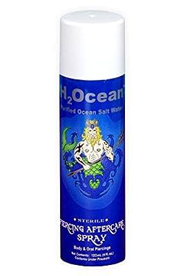 H2Ocean 1.5 FL OZ Purified Ocean Salt Water Piercing Aftercare Spray (2-pack)