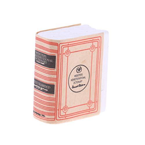 1/12 Mini Dictionary Book Accs Dollhouse Miniature Bookshelf Decoration