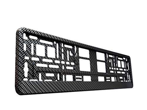 TAPORT 1x CARBON 3D PREMIUM Car Registration License Number Plate Surround Holder Frame