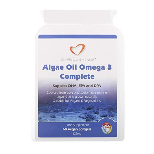 Algae Oil Omega 3 Complete 60 Capsules 625mg Supplies DHA EPA DPA