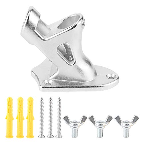 NCONCO Stainless Steel Heavy Duty Outdoor Flagpole Bracket Stand Base Support Fixing Too for House