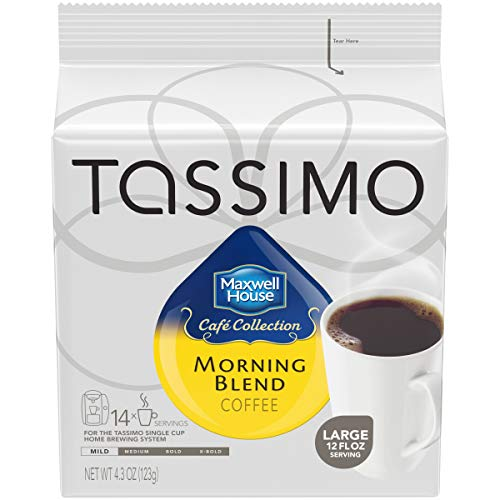Maxwell House Morning Blend Tassimo Ground Coffee Brewing Pods (70 Count, 5 Packs of 14)