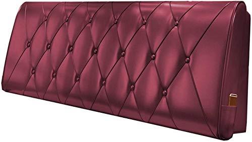 Kussen nachtkastje softpack tweepersoonsbed rug kunstleer kussensloop 5 maten - geschikt voor bed met hoofdeinde (kleur: bordeaux, grootte: 90 * 10 * 60cm) 120 * 10 * 60cm bordeauxrood (wine red)