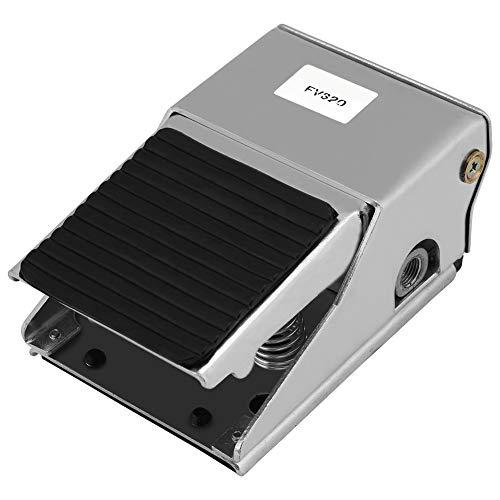 Delaman Válvula de Pedal Neumática de Aire, 3 Posiciones 2 Posiciones Control de Presión de Pie G1 / 4 Interruptor de Válvula de Pedal Neumatico Aire Valvula