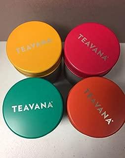 Teavana tea storage 4 tins
