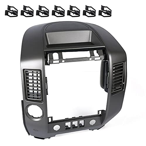 New Instrument Panel Center Radio AC Control Lid Bezel Replacement For Nissan Titan XE SE Armada SE 2004-2006 (WITHOUT Center Speaker)