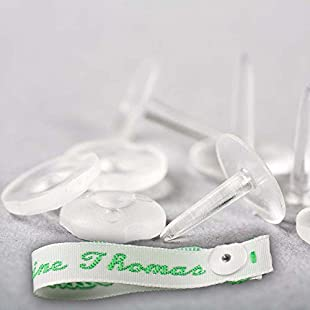 Pin-Tag Rivets for Fastening Woven Name Tapes / Labels / Tags to Garments (50)
