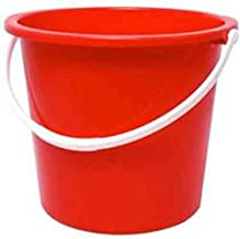 Jantex CD807 Round Plastic Buckets, Red
