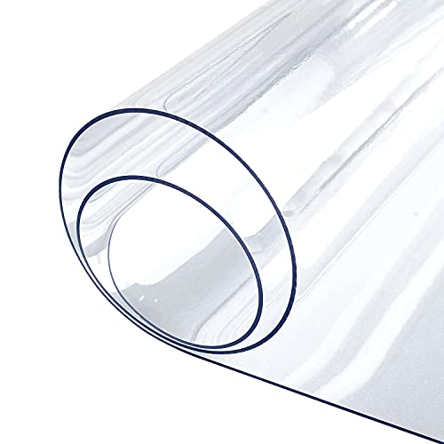 LovePads 1.5mm Thick 18 x 36 Inches Clear Table Cover Protector, Desk Pad Mat, Rectangular Plastic Table Protector, PVC Table Pad for Office, Computer, Writing Desk