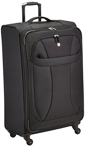 Wenger SwissGear Neo Lite Expandable 20' Carry-On Spinner Suitcase - Black