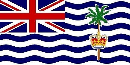 U24 Vlag Britse terreland in de Indiase Ocean 90 x 150 cm