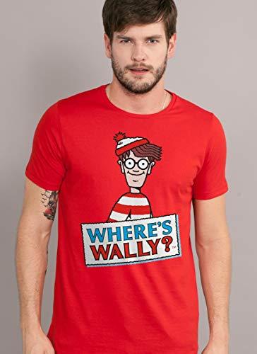 Camiseta Onde está Wally? Oficial Masculina (M)
