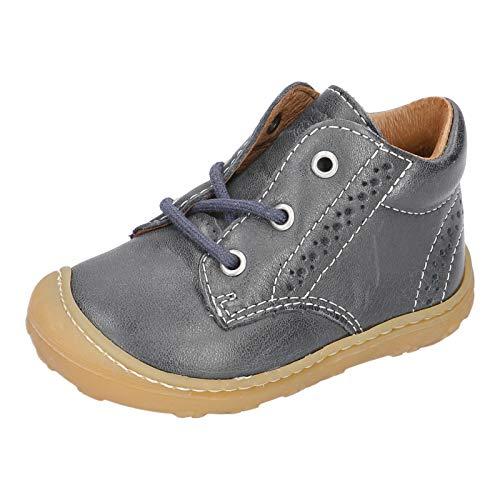 RICOSTA Unisex - Kinder Stiefel Kelly von Pepino, Weite: Mittel (WMS), detailreich Boots schnürstiefel Leder Kids junior,See,22 EU / 5.5 Child UK