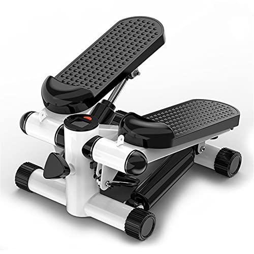 SFLRW Stair Stepper para el ejercicio, mini entrenador paso a paso con máquina escalonada ajustable con bandas de resistencia Pantalla LCD Pantalla cardio entrenamiento Fitness Equipo de ejercicio