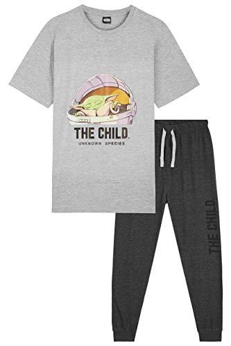 baratos y buenos Pijamas para hombre de Star Wars, pijamas para hombre Baby Yoda, camisetas de manga corta con diseño mandaloriano … calidad